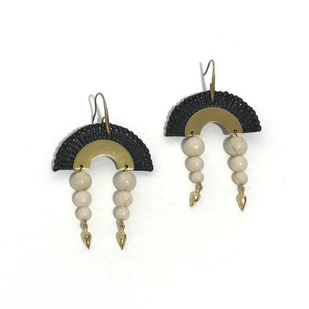 This Ilk Dunes Earrings - Black/White