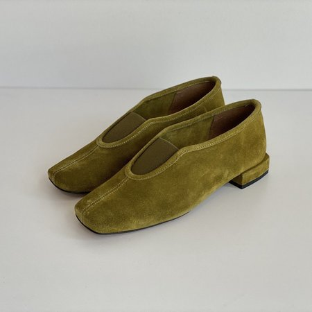 About Arianne Gillian Flats - Moss Suede