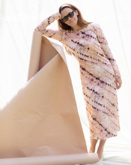 Munthe Mail Tie Dye Dress - PEACH TIE DYE