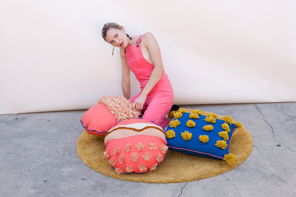 Lykke Wullf x Farron: Orange Pom Pillow