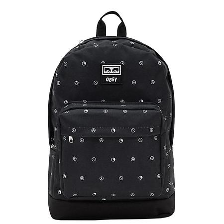 Obey Dropout Juvee Backpack - Multi Black Symbol