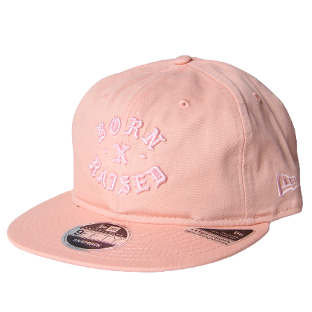 BORN X RAISED Rocker Snapback Hat - Pink