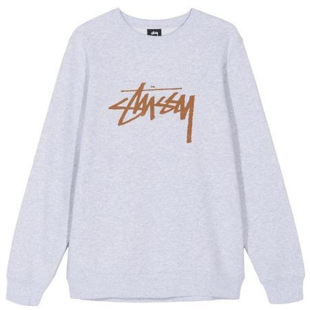 Stussy Stock Crew sweater - Ash Heather