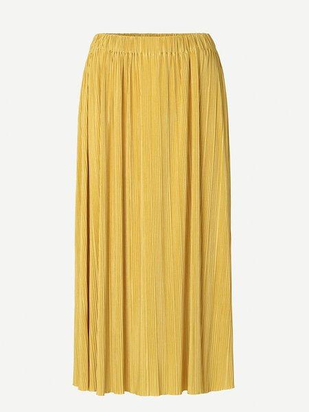 Samsoe & Samsoe Uma Plisse Skirt - Olivenite