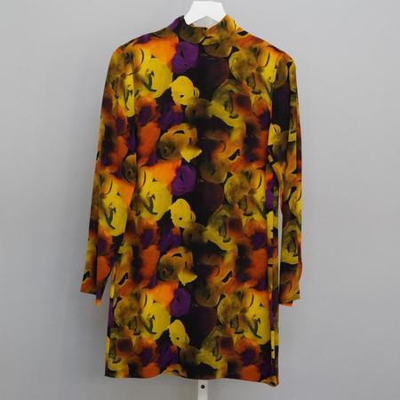 Ganni Silk Mix Dress - Lemon