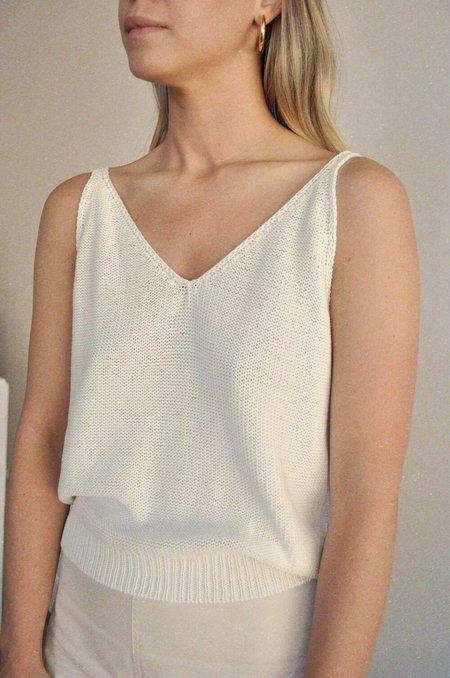 Rita Row Madonna Knit Tank - White
