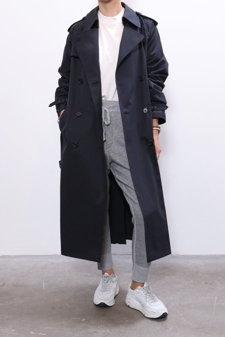 Nili Lotan Tanner Trench Coat - Dark Navy