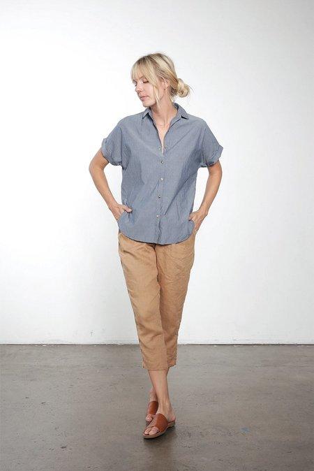It Is Well L.A. Short Sleeve Button Down Shirt - Denim