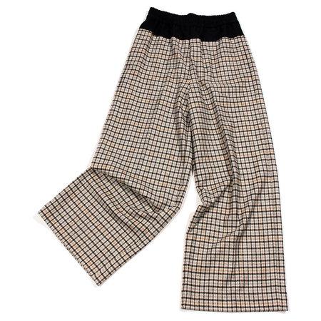 Nicholson & Nicholson Jigsaw Wool Check Combo Pant - Grey Check