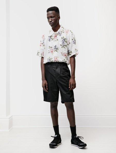 Niuhans Relaxed Shorts Cotton Linen Silk - Black