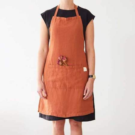 Linen Tales Linen Apron - Baked Clay