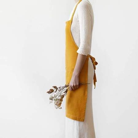 Linen Tales Apron - Mustard