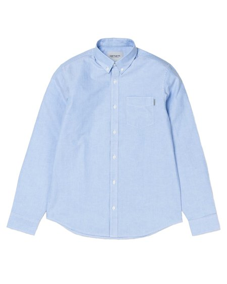 CARHARTT WIP Camisa LS Button Down Pocket - Bleach