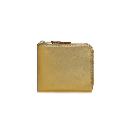 Comme des Garçons 1/2 Zip Wallet - Gold Foil