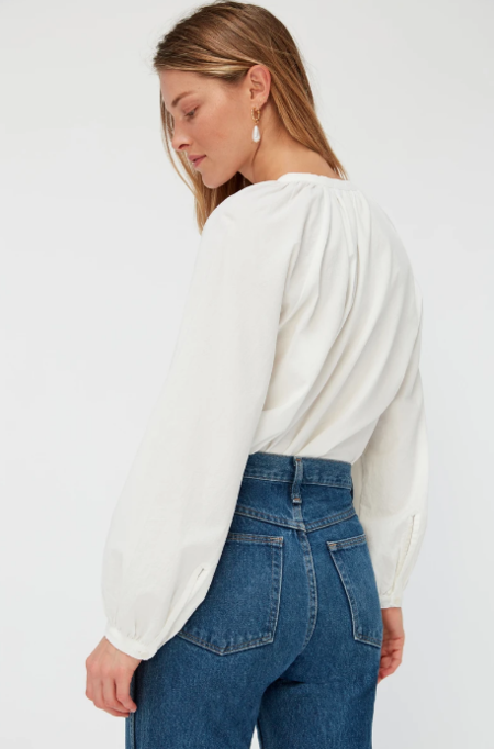 Lacausa Sonnet Blouse - Panna Cotta