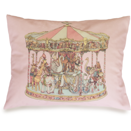 atelier choux velour carousel cushion
