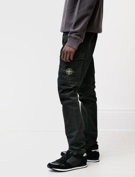 Stone Island Stretch Twill Cargo Pants - Black