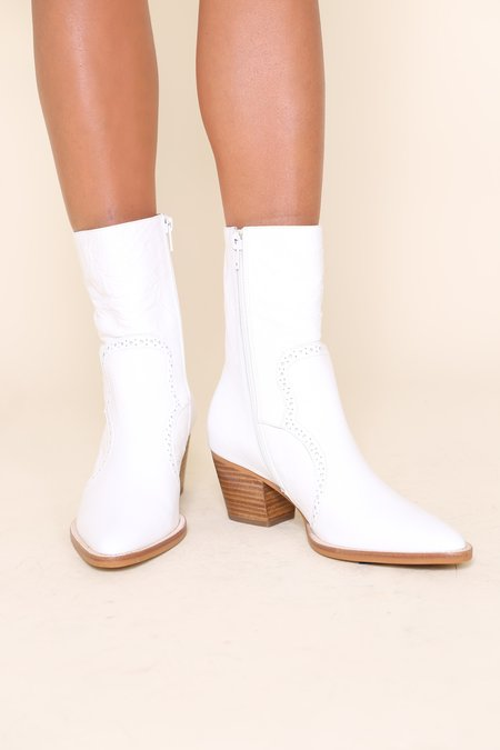 """Intentionally __________."" Lover Boot - White Crinkle"