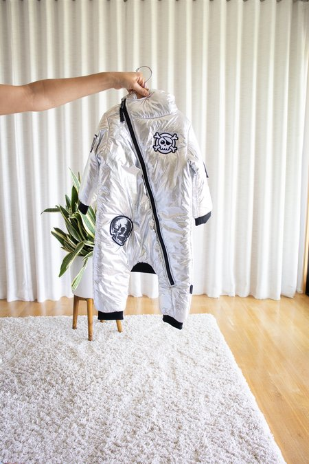 Kids Nununu Super Patch Down Overall - Silver