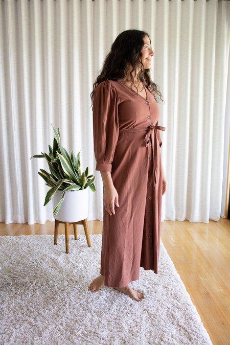 Rachel Pally Winter Linen Canvas Agnes Dress - Masala