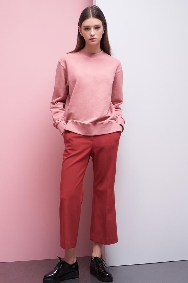 LOOKAST Basic Sweatshirt- Pink