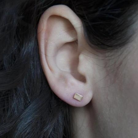 PILAR AGUECI CHIP EARRINGS - 14K YELLOW GOLD