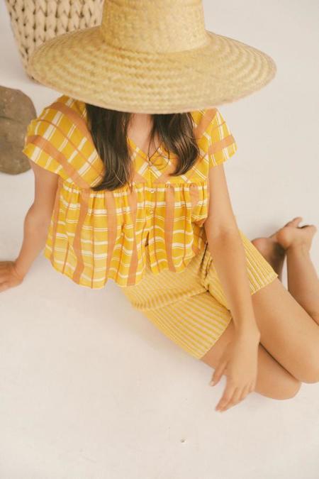Kordal Viento Blouse - Saffron Plaid