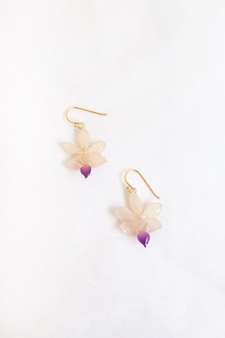 DAUPHINETTE Mini Orchid Earrings - Ivory