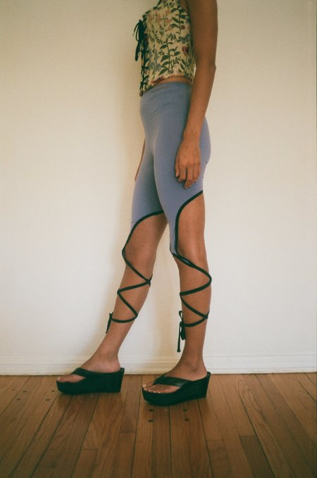 MAROSKE PEECH Spiral Leggings - Royal Purple