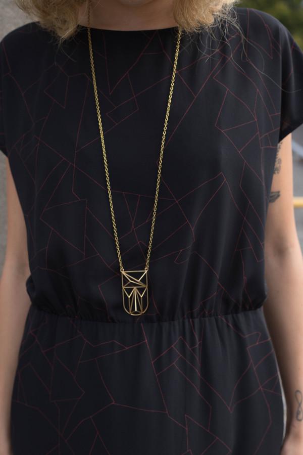Eve Gravel Fire Bird Dress - Black Constellation
