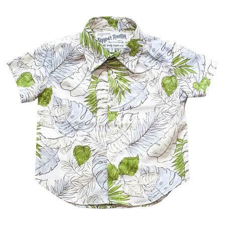 Kids 18 Waits  Hopper Hunter Short Sleeved Shirt - Faded Flora Green