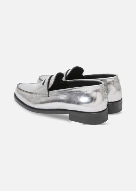 Roseanna Moc Loafer - Silver