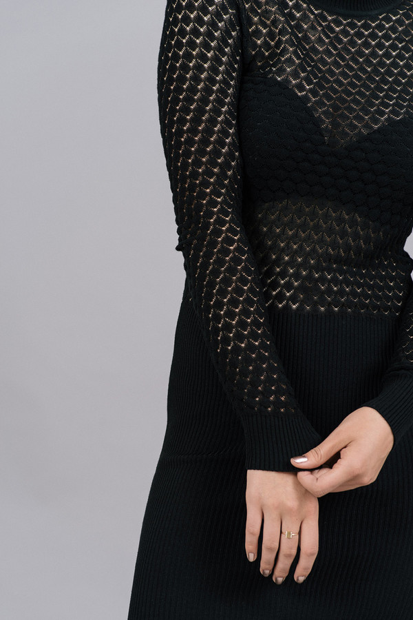 Storm & Marie Elena See-Through Knit Dress
