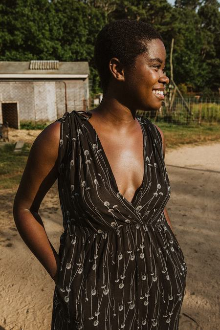 Conrado Frances Maxi Dress - Black Chiffon Print