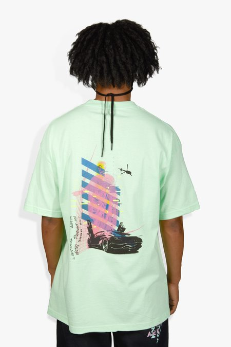 The Celect Geo Fade T-Shirt - Mint