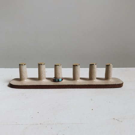 The Object Enthusiast 6-Post Ring Holder - Gold