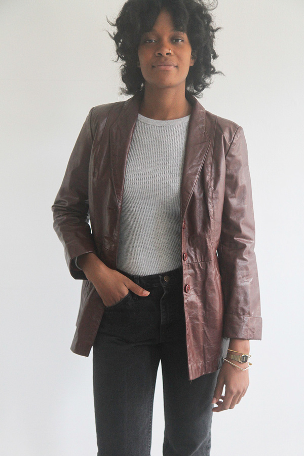 The Shudio Vintage Oxblood Leather Jacket