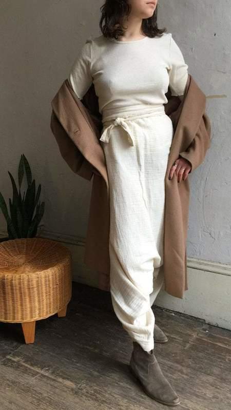 Vagabond Cotton Gauze Drop Crotch Harem Pants