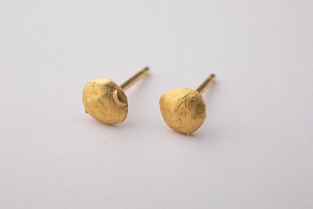 Takara T Robinson tiny gold nugget posts - gold plated