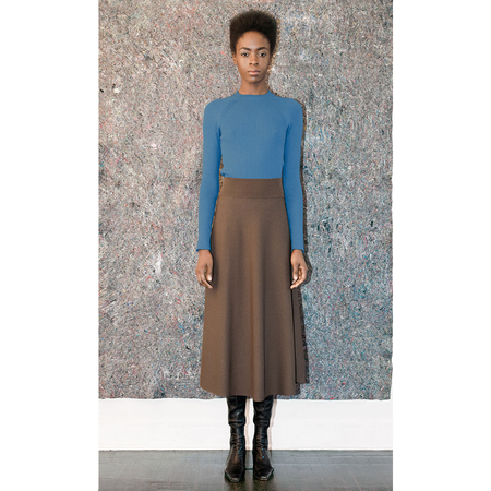 Pari Desai Flared Skirt - Cocoa