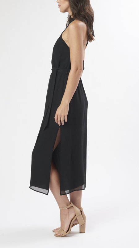 Marie Oliver Heidi Halter Dress - Black