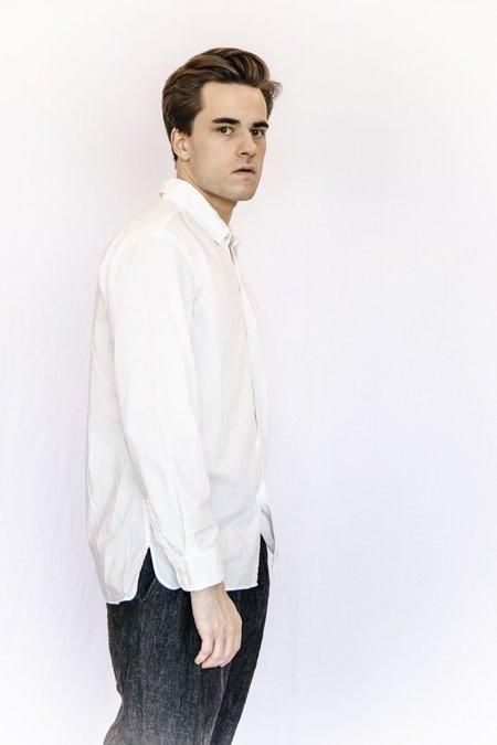 Sage de Cret Poplin Button Down Shirt - White