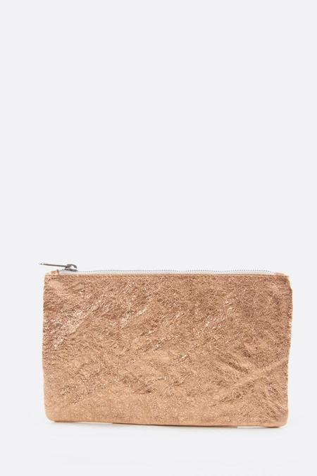 Zilla Champagne Rose Metallic Big Pouch - Champagne Rose