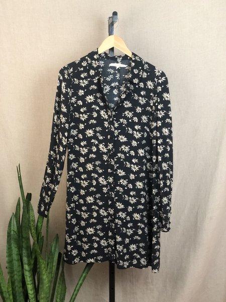 [Pre-loved] Alexa Chung for Madewell Floral Shirt Dress - Navy/Tan