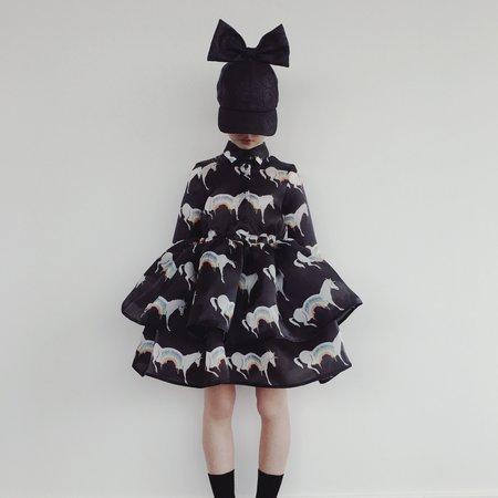Kids Caroline Bosmans Layered Dress - Rainbow Unicorns
