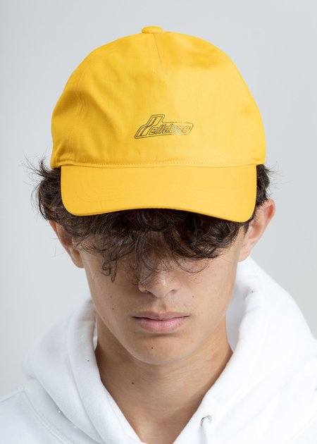 we11done Iridescent Logo Cap - Yellow