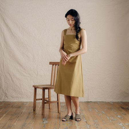 No.6 Criss Cross Dress - Ochre