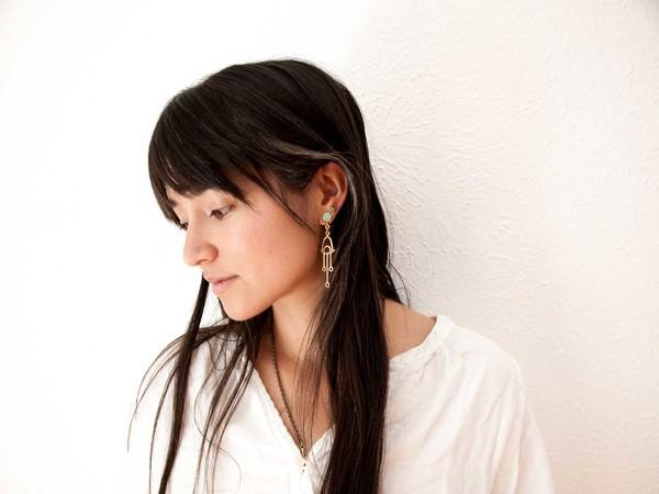 Laurel Hill Jewelry Callisto Earrings // Amazonite
