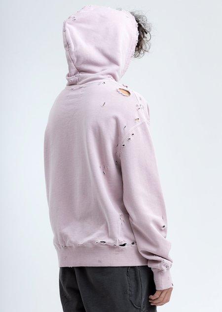 C2H4 Agitator Distressed Hoodie - Pink