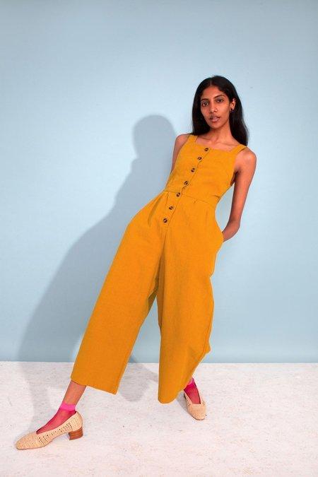L.F.Markey Jorn Dungaree Boilersuit - Mustard